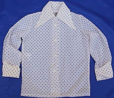 Girls vintage polka dot blouse TERYLENE 1960s 1970s 7 to 12 years UNUSED washed